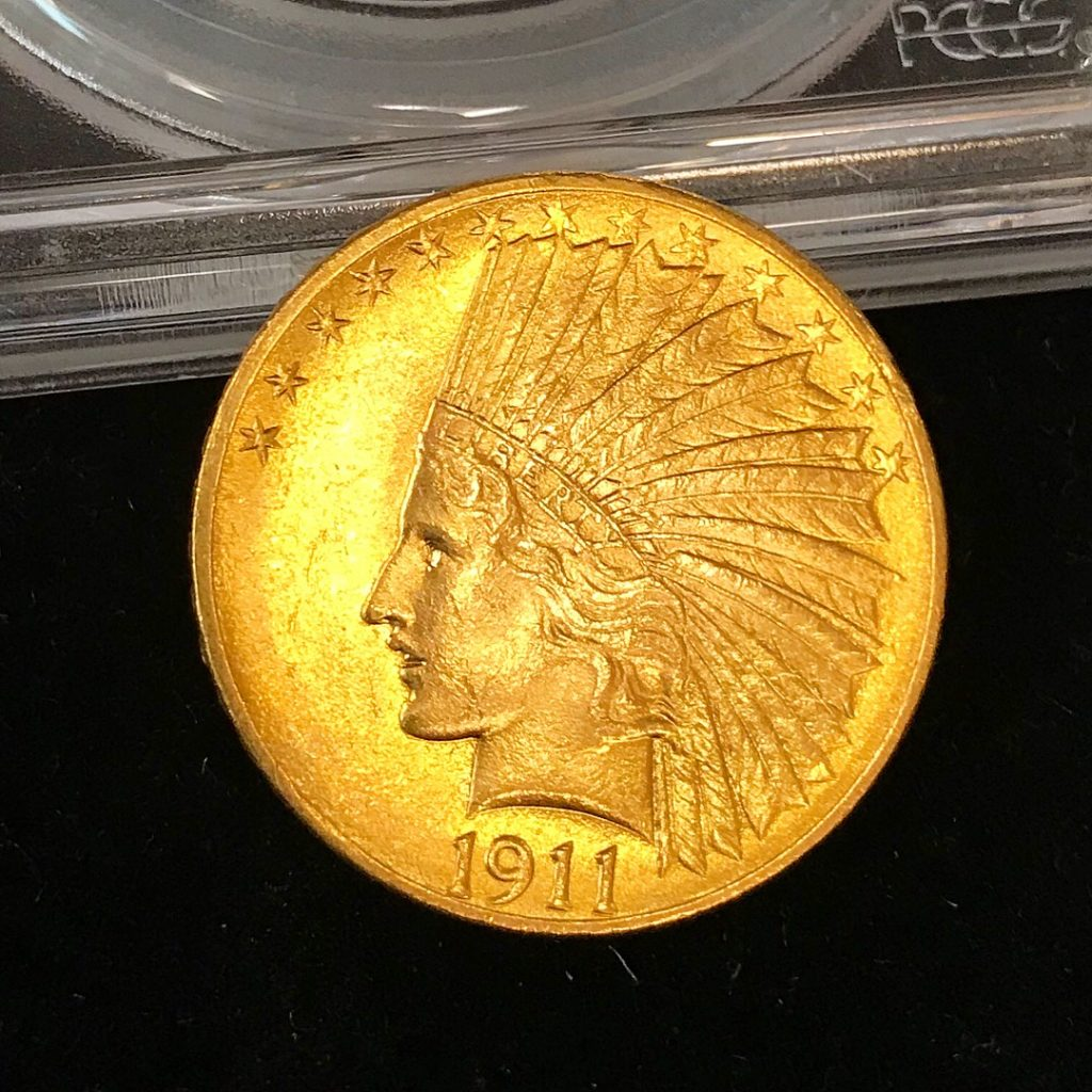 1911 $10 Gold Indian Coin