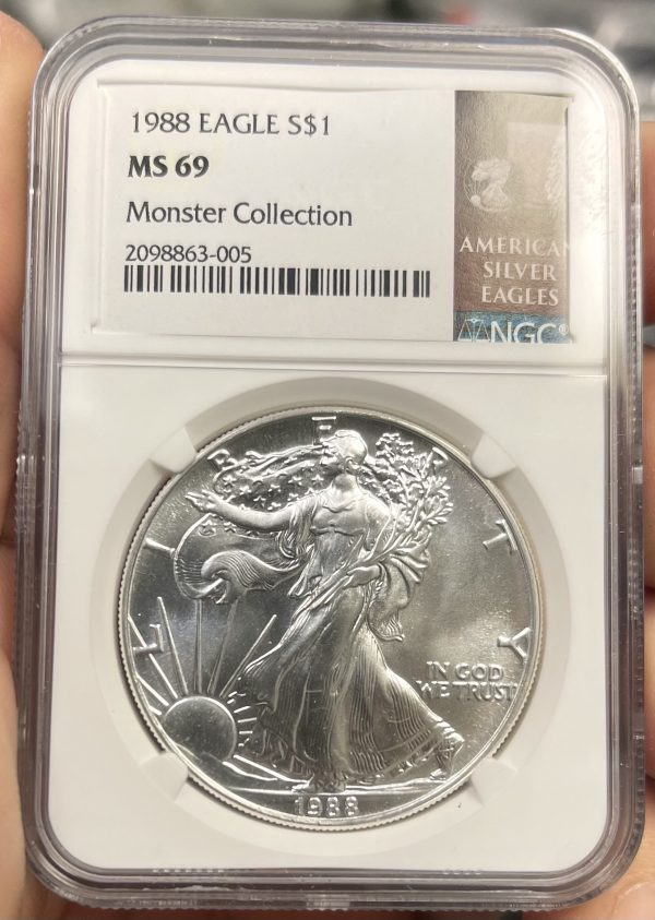 1988 American Silver Eagle NGC Certified MS 69 - Monster Collection