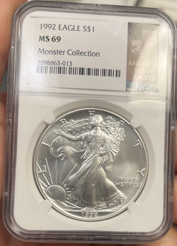 1992 American Silver Eagle NGC Certified MS 69 - Monster Collection