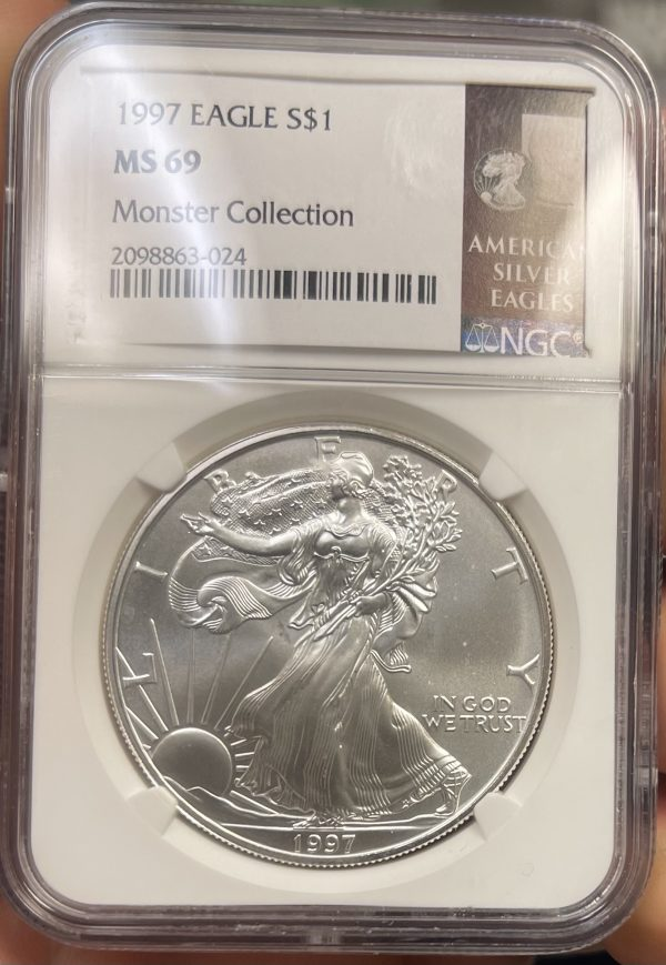 1997 American Silver Eagle NGC Certified MS 69 - Monster Collection