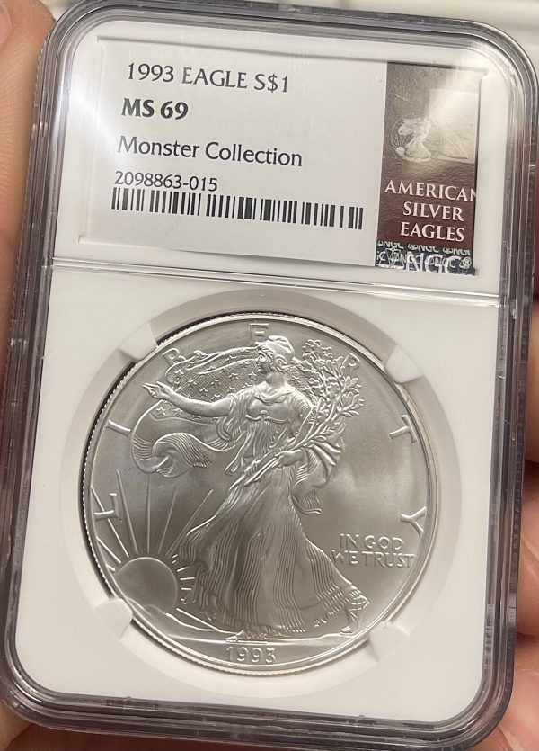 1993 American Silver Eagle NGC Certified MS 69 - Monster Collection
