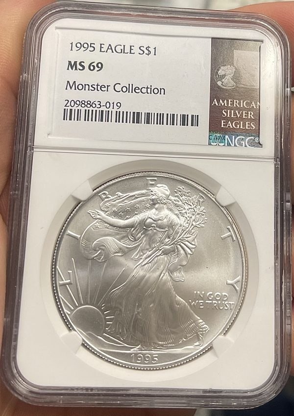 1995 American Silver Eagle NGC Certified MS 69 - Monster Collection