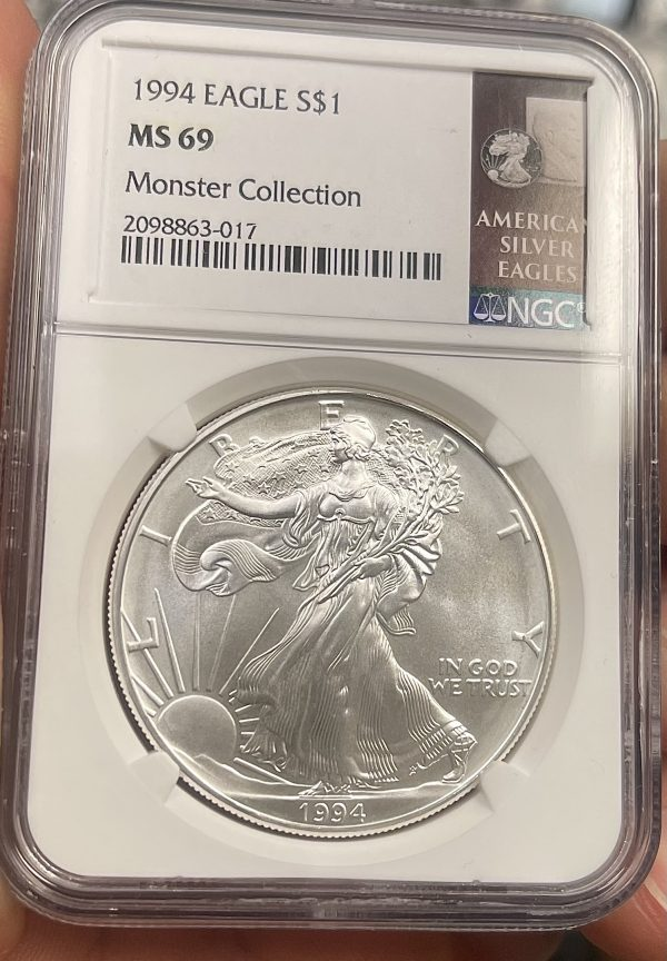 1994 American Silver Eagle NGC Certified MS 69 - Monster Collection