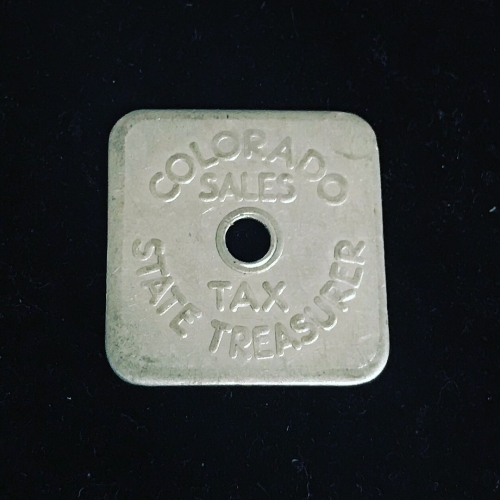 Colorado State Sales Tax Token For State Treasury