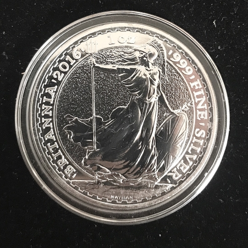 2016 Great Britain 1oz .999 Fine Silver Britannia