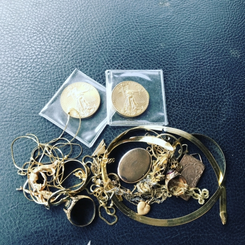 Scrap Gold Coin And Jewelry