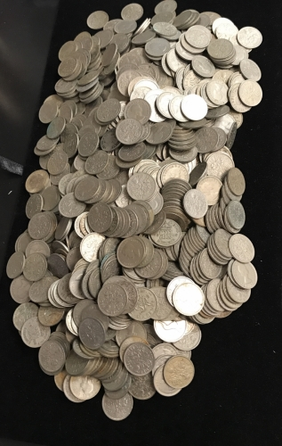 Large Collection of British Six Pence Coins For Weddings