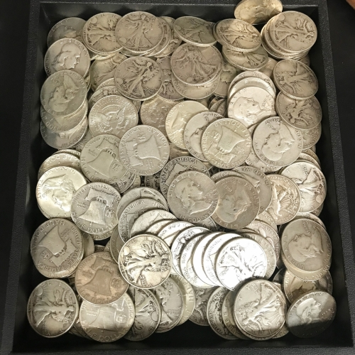 90% Silver Coins Walking Liberty and Franklin Half Dollars